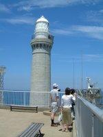 位置的には一番奥になる、角島灯台。