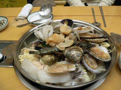 とても豪華な海鮮鍋!