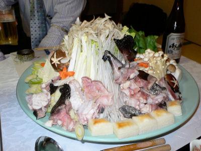 アンコウ鍋。美味でした。
